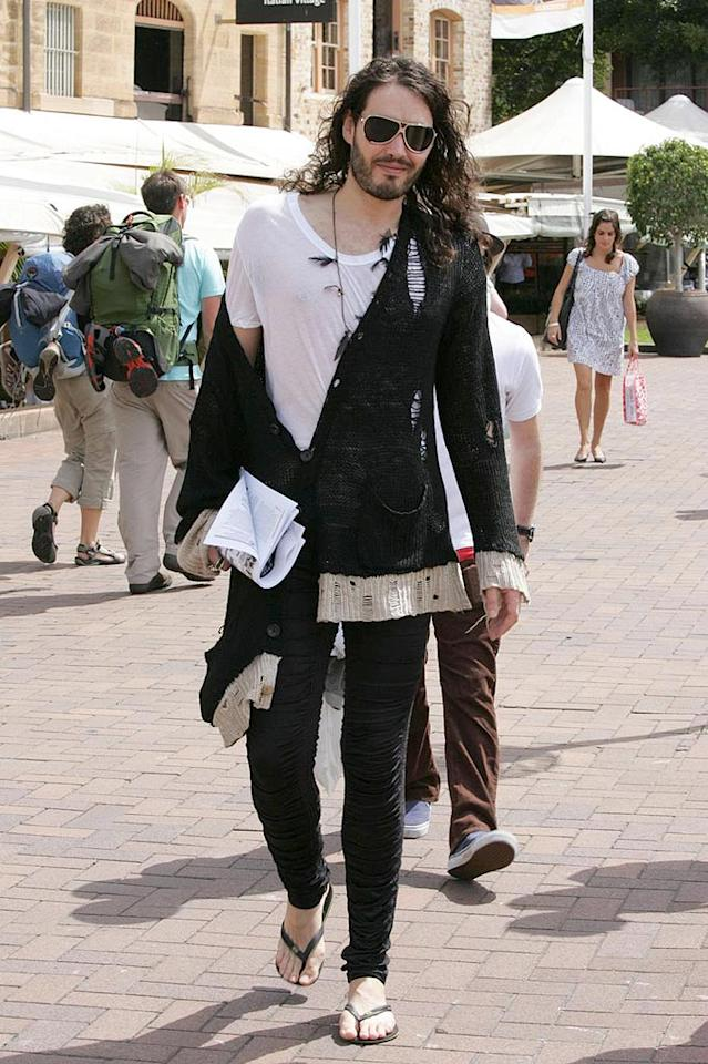 "What should comedian Russell Brand do? Wash his hair, shave his beard, or burn his outfit? Choose your own adventure! Scope Features/<a href=""http://www.pacificcoastnews.com/"" target=""new"">PacificCoastNews.com</a> - March 19, 2009"