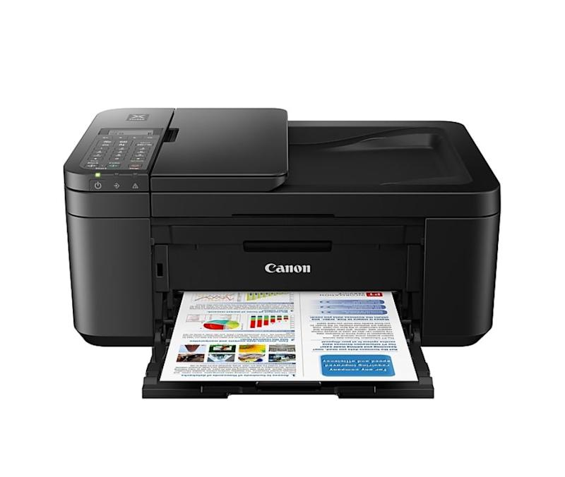 """<strong>Pages Per Minute: </strong>This printer can handle 8.8 pages per minute when printing in black and 4.4 pages per minute when printing in color.<br /><strong>Monochrome Vs. Color: </strong>It can do both!<br /><strong>Cartridge Details: </strong>This printer's compatible with the Canon PG-243 cartridge for black ink and Canon CL 244 cartridge for color.<br /><strong> What Else Can This Printer Do: </strong>Functions include copying, scanning and faxing.<br /><strong> $$$:</strong><a href=""""https://fave.co/2Dj9KTL"""" target=""""_blank"""" rel=""""noopener noreferrer"""">Find it for $60 at Staples</a>."""