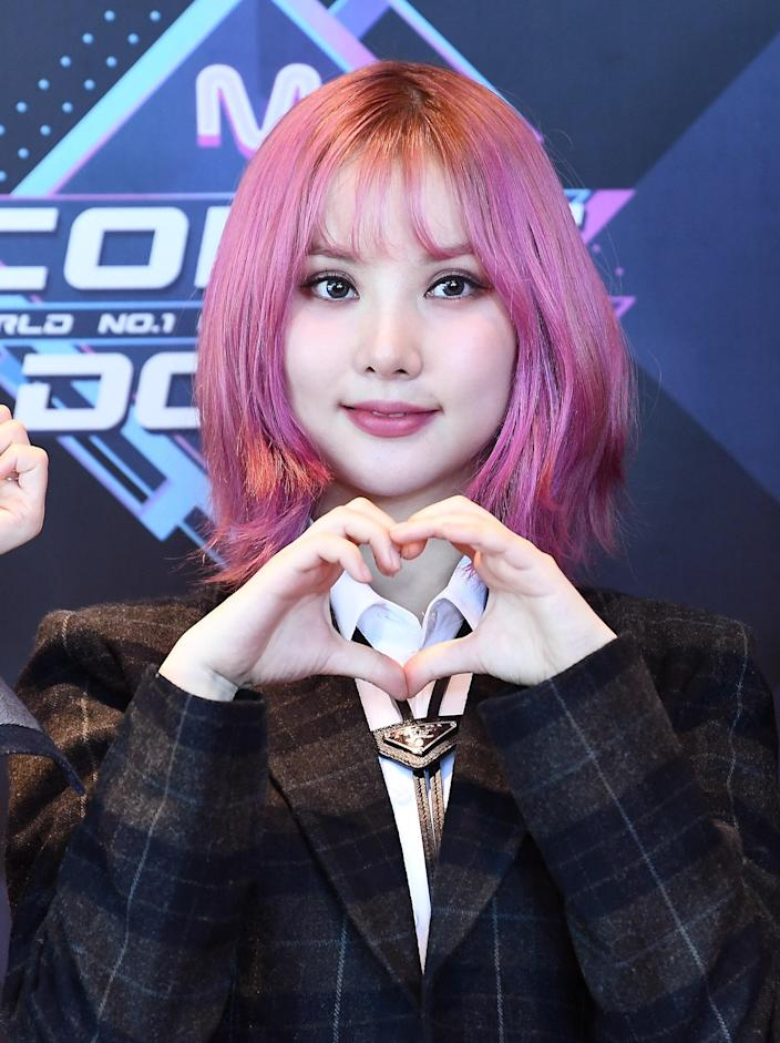 """If you're still into the tousled look, though, consider a magenta shaggy bob instead. After coloring your hair, ask your stylist to add lots and <em>lots</em> of layers, """"which help to create the texture for a cool, lived-in look,"""" beloved hairstylist Sally Hershberger <a href=""""https://www.allure.com/gallery/best-spring-haircut-hairstyle-trends?mbid=synd_yahoo_rss"""" rel=""""nofollow noopener"""" target=""""_blank"""" data-ylk=""""slk:previously told Allure"""" class=""""link rapid-noclick-resp"""">previously told <em>Allure</em></a>. And while you're at it, you might as well match <a href=""""https://www.allure.com/story/eyebrow-bleaching-how-to-lighten-brows?mbid=synd_yahoo_rss"""" rel=""""nofollow noopener"""" target=""""_blank"""" data-ylk=""""slk:your brows"""" class=""""link rapid-noclick-resp"""">your brows</a> to your bob, too, à la <a href=""""https://www.allure.com/story/gfriend-k-pop-beauty-interview?mbid=synd_yahoo_rss"""" rel=""""nofollow noopener"""" target=""""_blank"""" data-ylk=""""slk:K-pop star Eunha"""" class=""""link rapid-noclick-resp"""">K-pop star Eunha</a>."""