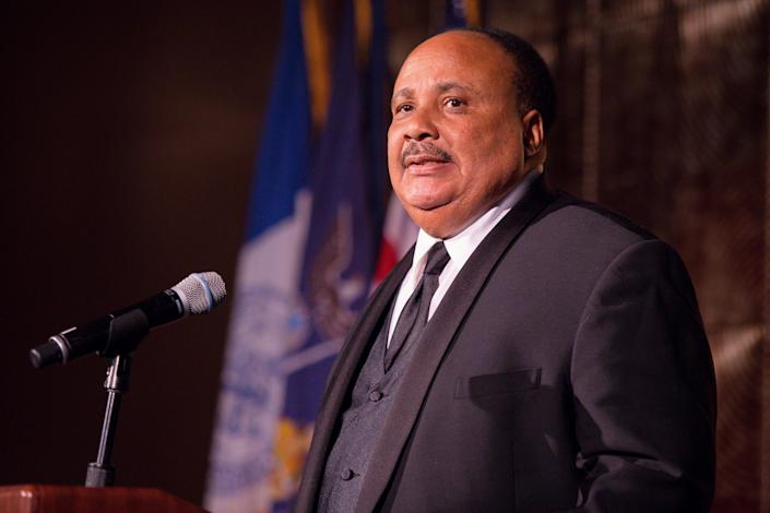 """""""We have to still continue to work through to rid our society of racism,"""" said Martin Luther King III. (Photo: Eric Vitale via Getty Images)"""