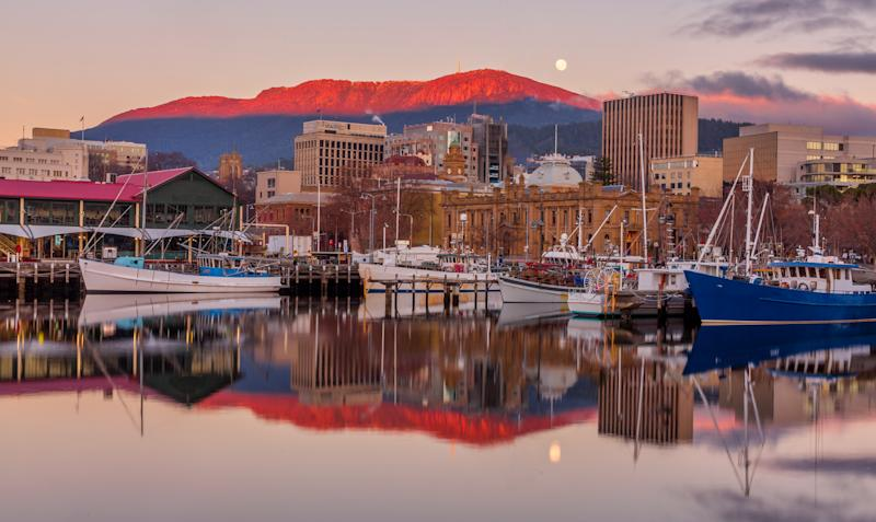 Sunrise at Constitution Dock, Hobart Tasmania