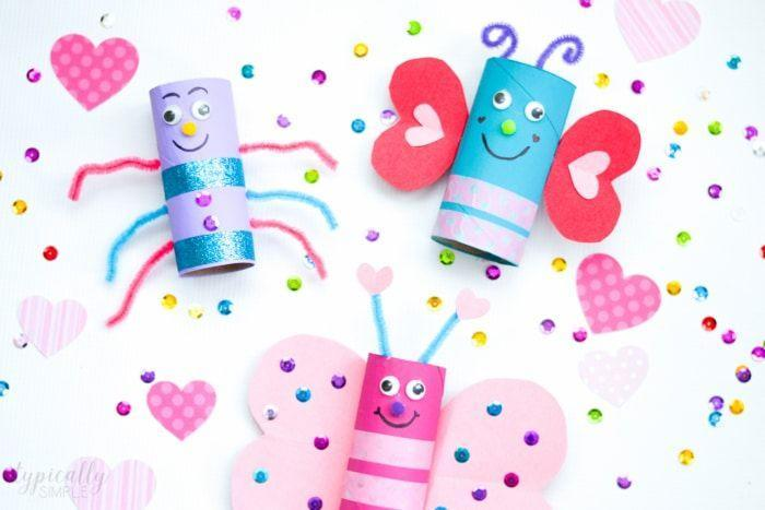 """<p>Upcycle toilet paper rolls into cute love bugs, customized however kids like. Decorate with pipe cleaners, googly eyes, and whatever embellishments you have on hand.</p><p><em><a href=""""https://typicallysimple.com/love-bugs-toilet-paper-roll-craft/"""" rel=""""nofollow noopener"""" target=""""_blank"""" data-ylk=""""slk:Get the how-to at Typically Simple»"""" class=""""link rapid-noclick-resp"""">Get the how-to at Typically Simple»</a></em><br></p>"""