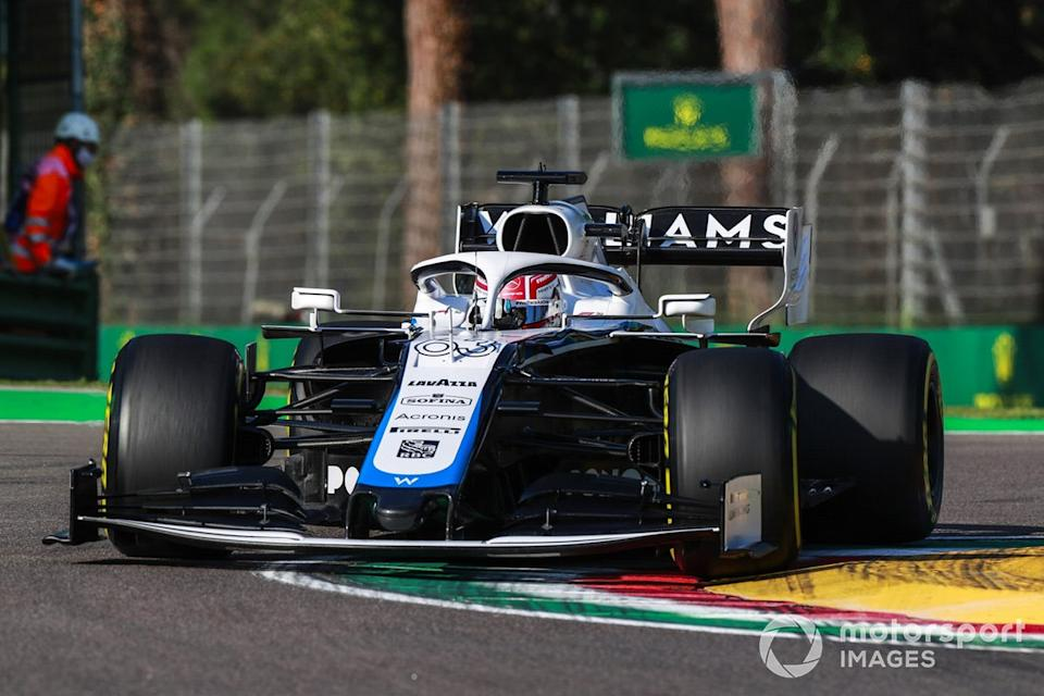 """P13 George Russell, Williams FW43<span class=""""copyright"""">Steven Tee / Motorsport Images</span>"""