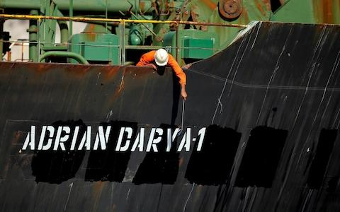 The tanker was impounded for six weeks in Gibraltar - Credit: REUTERS/Jon Nazca