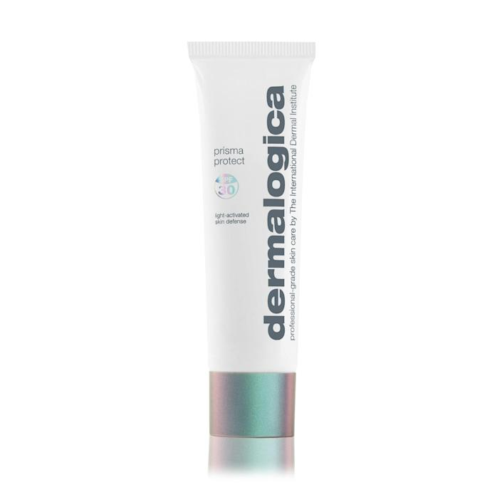 """<p>Dermalogica's new Prisma Protect SPF 30 sunscreen not only shields your complexion from harmful UV rays, but soothes and hydrates your skin, thanks to matcha and sage extracts.</p> <p><strong>$65</strong> (<a href=""""https://shop-links.co/1666167629166427683"""" rel=""""nofollow noopener"""" target=""""_blank"""" data-ylk=""""slk:Shop Now"""" class=""""link rapid-noclick-resp"""">Shop Now</a>)</p>"""