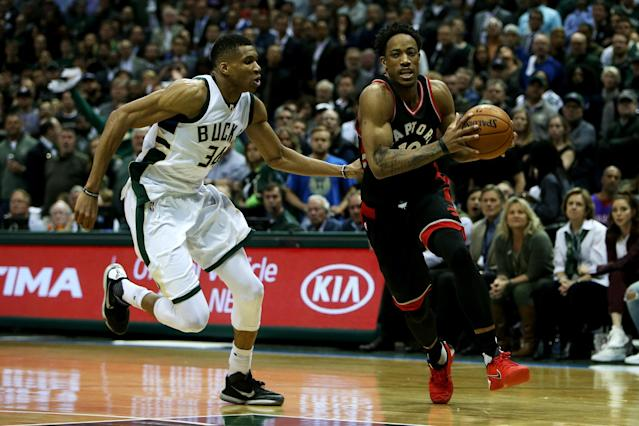 The Greek Freak is a defensive wizard, and a premiere defensive contributor in Yahoo Fantasy Basketball. (Photo by Dylan Buell/Getty Images)