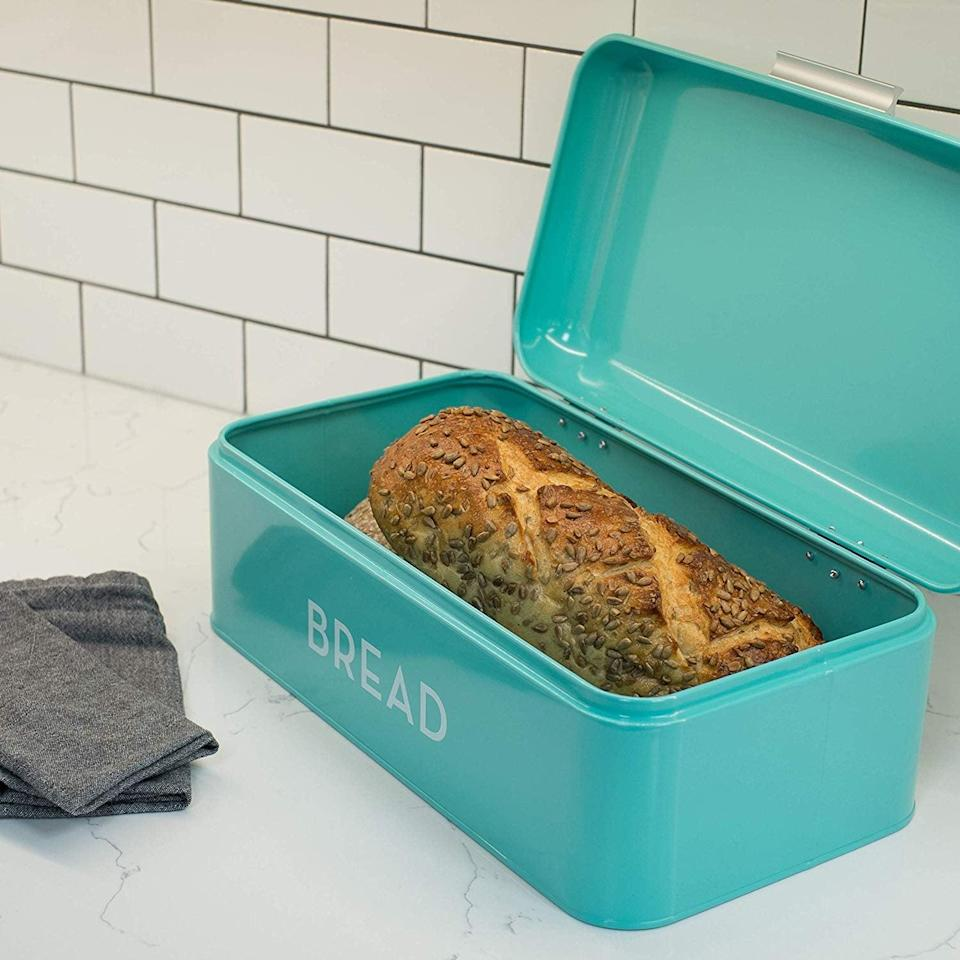 <p>Keep baked goods fresh in this <span>Now Designs Large Bread Bin</span> ($40).</p>