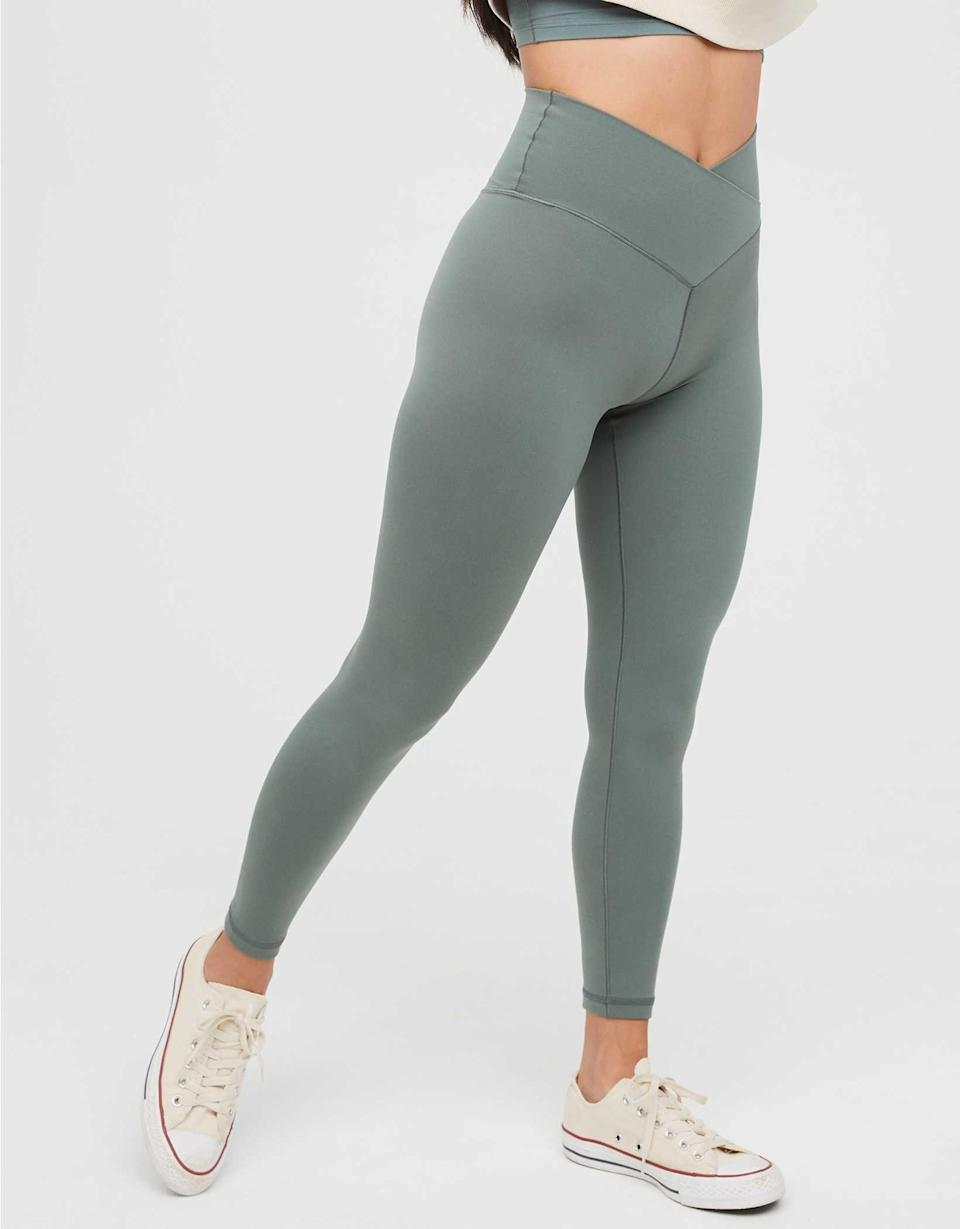 """<p><strong>Aerie</strong></p><p><strong>$31.46</strong></p><p><a href=""""https://go.redirectingat.com?id=74968X1596630&url=https%3A%2F%2Fwww.ae.com%2Fus%2Fen%2Fp%2Faerie%2Fleggings%2F7-8-leggings%2Foffline-real-me-high-waisted-crossover-legging%2F0708_5104_073%3FAID%3D13187162%26PID%3D8209452&sref=https%3A%2F%2Fwww.cosmopolitan.com%2Fstyle-beauty%2Ffashion%2Fg8274845%2Fbest-gifts-teenage-girls%2F"""" rel=""""nofollow noopener"""" target=""""_blank"""" data-ylk=""""slk:Shop Now"""" class=""""link rapid-noclick-resp"""">Shop Now</a></p><p>Why did these leggings blow up on TikTok, you ask? Because they are so! Dang! Awesome! They're also fast drying, lightweight, and available in tons of cute colors. </p>"""