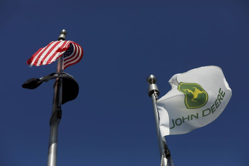FILE PHOTO: John Deere's Harvester Works facility is seen in East Moline