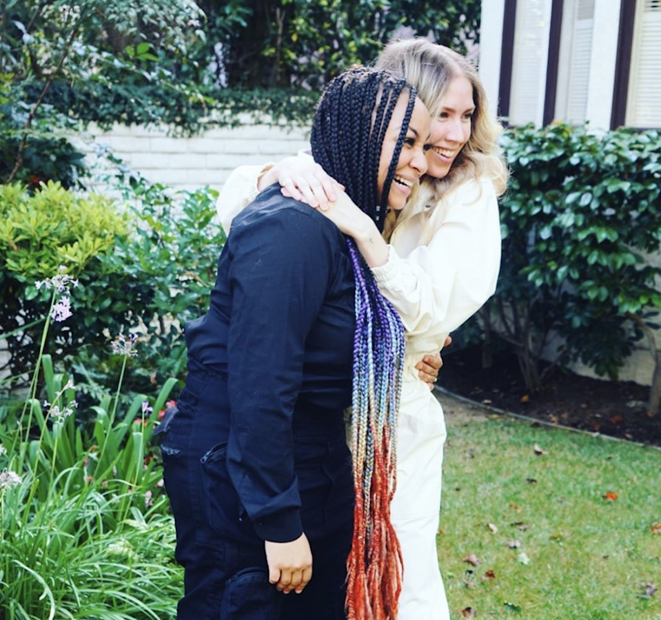 """Raven-Symoné took to Instagram on Thursday, June 18, to announce she and her girlfriend, Miranda Maday, have tied the knot. """"I got married to a woman who understands me from trigger to joy, from breakfast to midnight snack, from stage to home. I love you Mrs. Pearman-Maday! Let's tear this world a new asshole!!! I's married NOW,"""" she wrote on Instagram <a href=""""https://www.instagram.com/p/CBlPtkLD4F-/"""" rel=""""nofollow noopener"""" target=""""_blank"""" data-ylk=""""slk:alongside the above photo."""" class=""""link rapid-noclick-resp"""">alongside the above photo.</a> In a separate post <a href=""""https://www.instagram.com/p/CBlQSHMD7yT/"""" rel=""""nofollow noopener"""" target=""""_blank"""" data-ylk=""""slk:she added"""" class=""""link rapid-noclick-resp"""">she added</a>, """"Thank you to all those who helped and for those who understand why it was small during this time."""" And then on Instagram Stories she wrote to Maday, """"Love you bestie #WifedUpLife."""""""