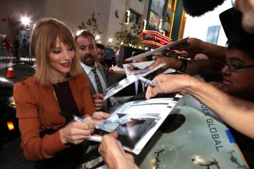 """Actress Sienna Guillory arrives at the Los Angeles premiere of """"Resident Evil: Retribution"""""""
