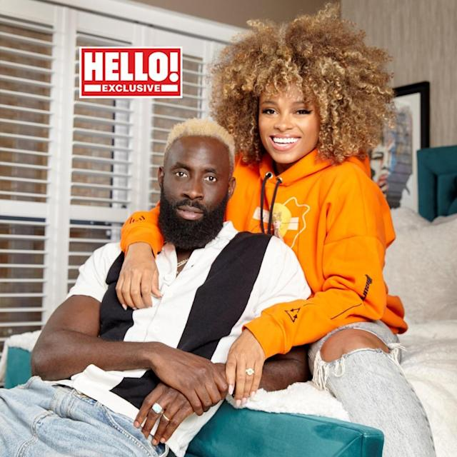 Fleur East and her husband have appeared in Hello! magazine. (PA Images/Hello!)