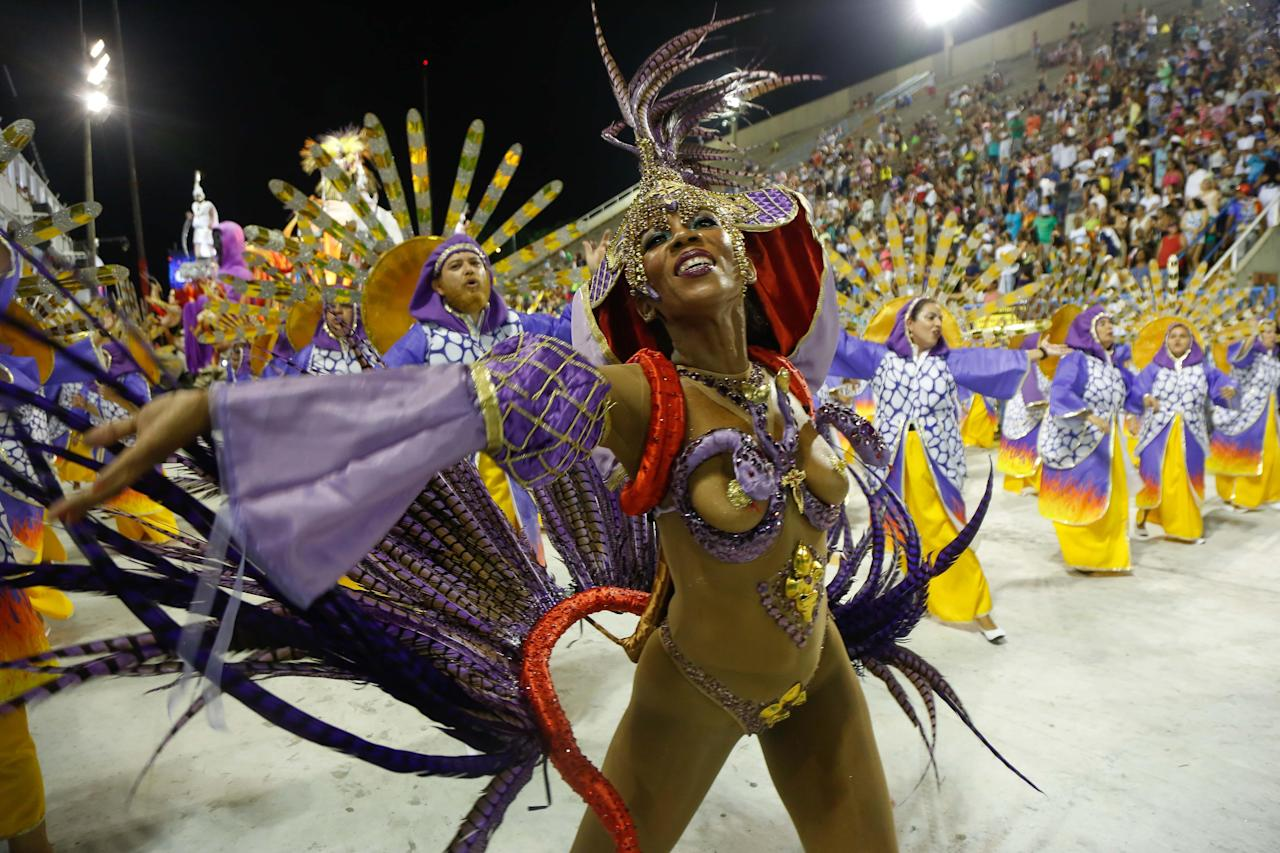 <p>It's carnival time again in Brazil, and the costumes hitting the sambadrone are tinier and more outrageous than ever.</p>