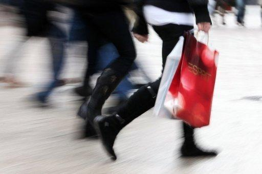 Shoppers make their way through the streets of the northern German city of Hamburg. German unemployment was unchanged in August at 7.0 percent of the workforce, while retail sales were flat in July, official data showed Wednesday as Europe's biggest economy tried to find its footing