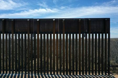 FILE PHOTO: New bollard-style U.S.-Mexico border fencing is seen in Santa Teresa