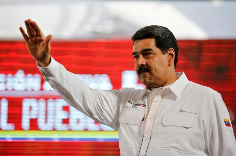 Venezuelan President Nicolas Maduro (pictured February 20, 2019) ordered a shipment of thousands of food boxes to be distributed to the needy along the Colombian border