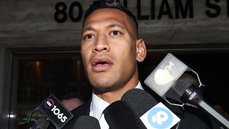 Israel Folau was sacked by Rugby Australia after a homophobic religious social media post.