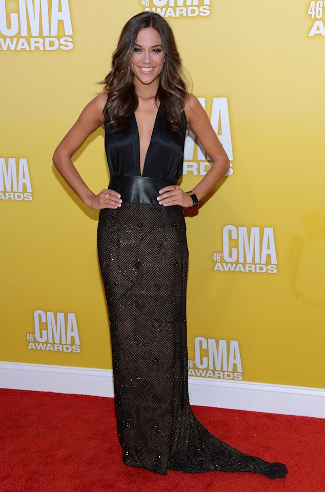 NASHVILLE, TN - NOVEMBER 01:  Country music artist Jana Kramer attends the 46th annual CMA Awards at the Bridgestone Arena on November 1, 2012 in Nashville, Tennessee.  (Photo by Jason Kempin/Getty Images)