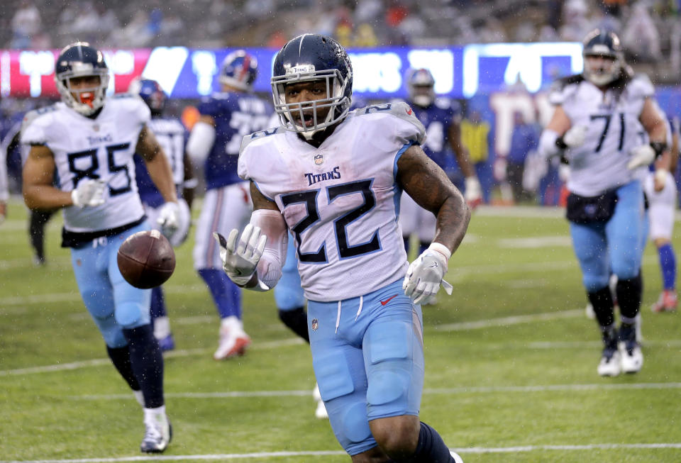 Derrick Henry transformed into a league-winner the final three weeks of the fantasy season. (AP Photo/Seth Wenig, File)