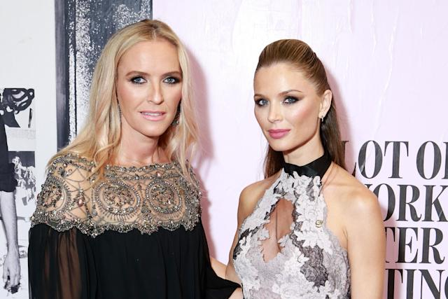Keren Craig, left, co-founder of Marchesa, with Georgina Chapman, the estranged wife of Harvey Weinstein. Craig has spoken for the first time since the Harvey Weinstein scandal. (Photo: Getty Images)