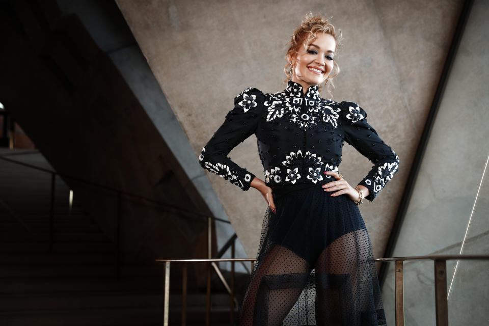 FEBRUARY 20, 2021: SYDNEY, NSW: (EUROPE AND AUSTRALASIA OUT) Singer Rita Ora poses during a photo shoot at the Sydney Opera House in Sydney, New South Wales. (Photo by Sam Ruttyn/Newspix via Getty Images)