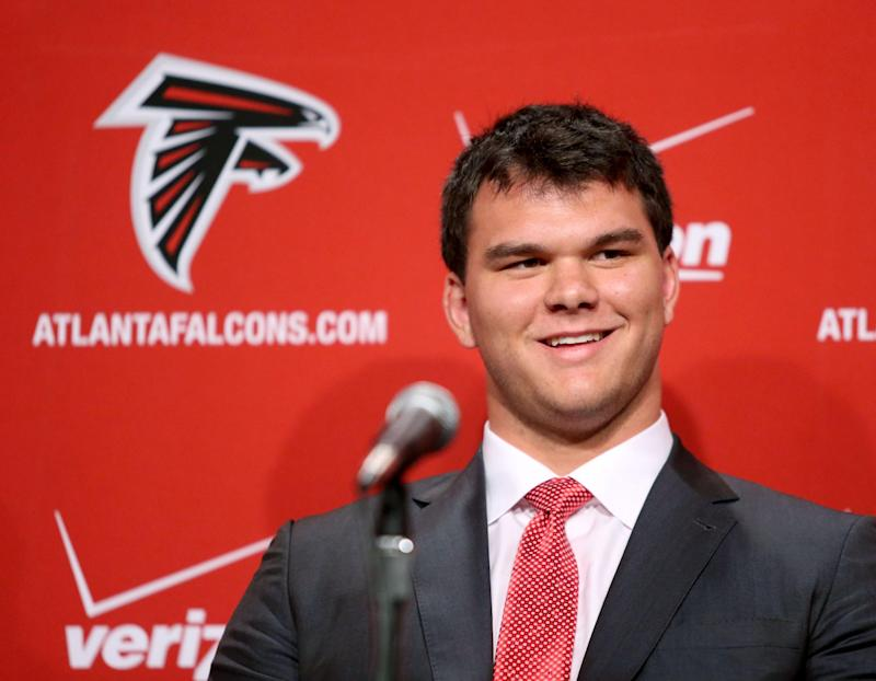 Falcons keep draft focus on improving lines