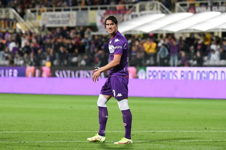Highly-rated Dusan Vlahovic was among those who failed to capitalise on Fiorentina's early dominance (AFP/ANDREAS SOLARO)