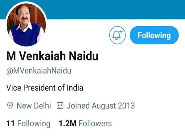 Twitter removed the blue verified badge from Vice President of India's personal handle on Saturday.