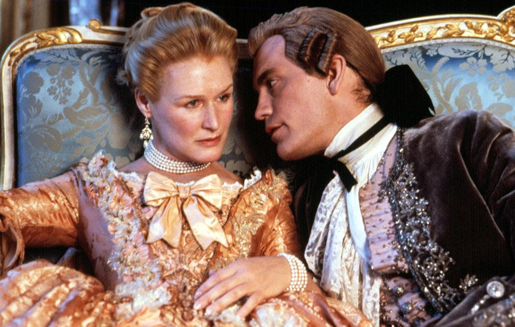 """<a href=""""http://movies.yahoo.com/movie/1800053311/info"""">Dangerous Liaisons</a>: John Malkovich is freakishly sexy and seductive, and Glenn Close is every bit his intellectual equal, in director Stephen Frears' adaptation of Choderlos de Laclos' novel about bored aristocrats deceiving and manipulating each other in 18th century France. The strong supporting cast features Michelle Pfeiffer as well as a young Uma Thurman and Keanu Reeves. Nominated for seven Oscars, including best picture, it won three: for its sumptuous costumes and art direction, as well as for Christopher Hampton's screenplay. This is a refined guilty pleasure you can feel good about giving into."""