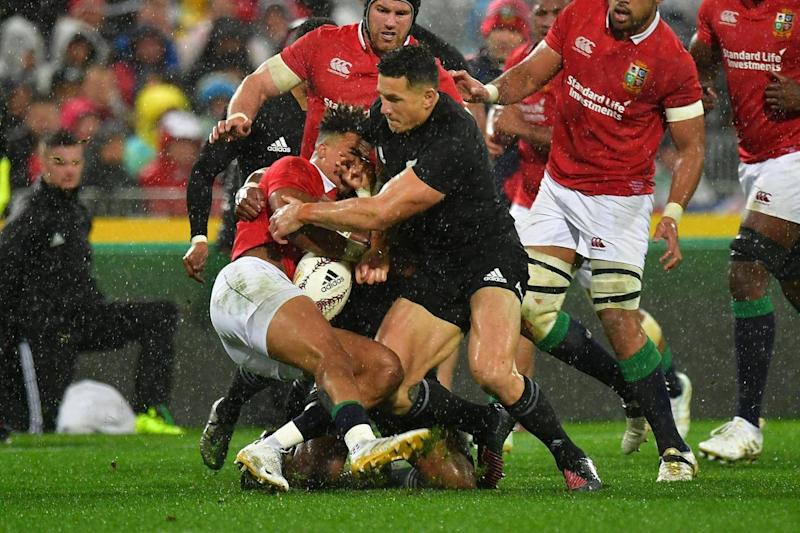 Sonny Bill Williams was sent off in the second Lions Test for a shoulder charge on Anthony Watson (Getty )