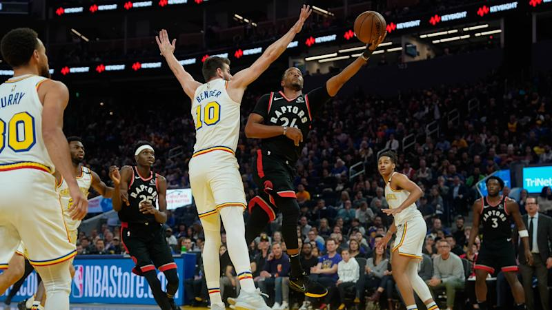 Norman Powell submitted one of the games of his career, helping the Toronto Raptors clinch a playoff spot with a win over the Golden State Warriors. (Stan Szeto-USA TODAY Sports)