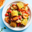 "<p>This variation of a shrimp boil can be made in the oven on just one baking sheet. A medley of spices gives this healthy dish of chicken, sausage and veggies a rich, complex flavor. Bonus: This easy sheet-pan dinner requires just 20 minutes of active prep time. <a href=""http://www.eatingwell.com/recipe/274849/sheet-pan-creole-chicken-shrimp/"" rel=""nofollow noopener"" target=""_blank"" data-ylk=""slk:View recipe"" class=""link rapid-noclick-resp""> View recipe </a></p>"