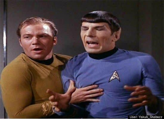 "<span>Yakub Shabazz</span>:<br>Kirk never could quite get that ""Vulcan Neck Pinch"" right..."