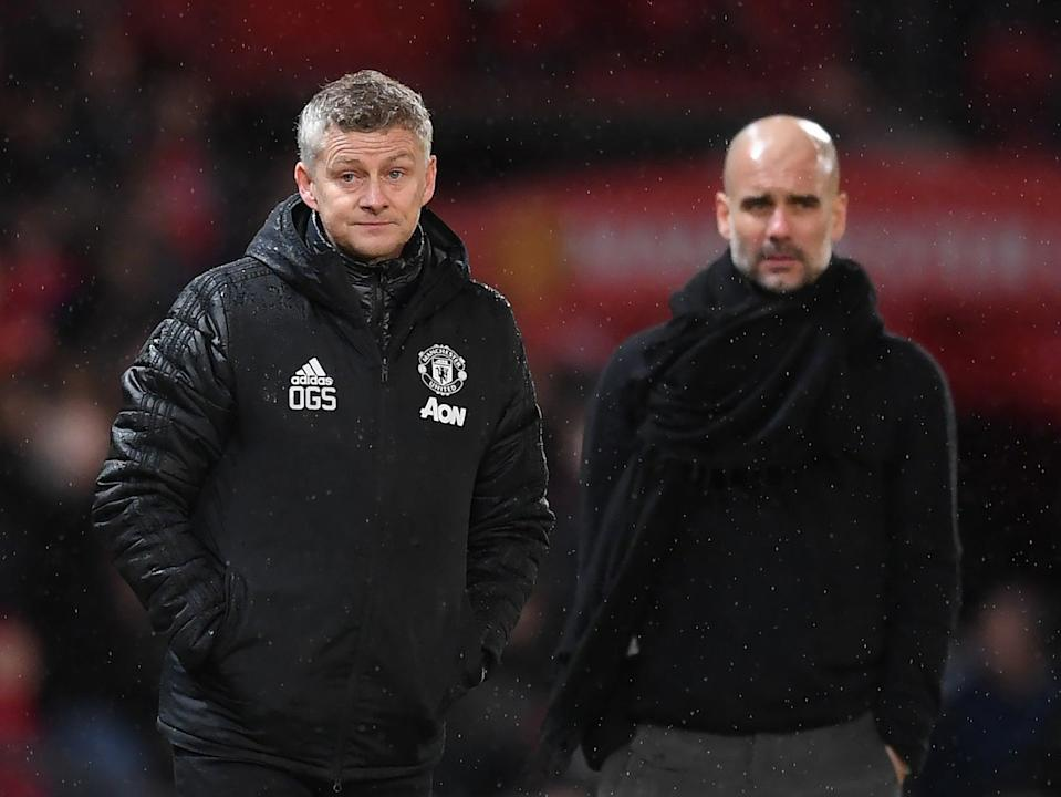 Ole Gunnar Solskjaer and Pep Guardiola (Getty Images)