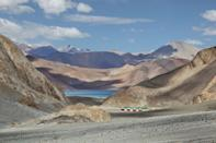 <p>Pangong Lake near Kashmir, India // July 5, 2014</p>