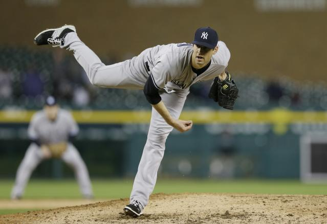 Former Yankees pitcher Chris Martin is back in the majors. (AP Photo)
