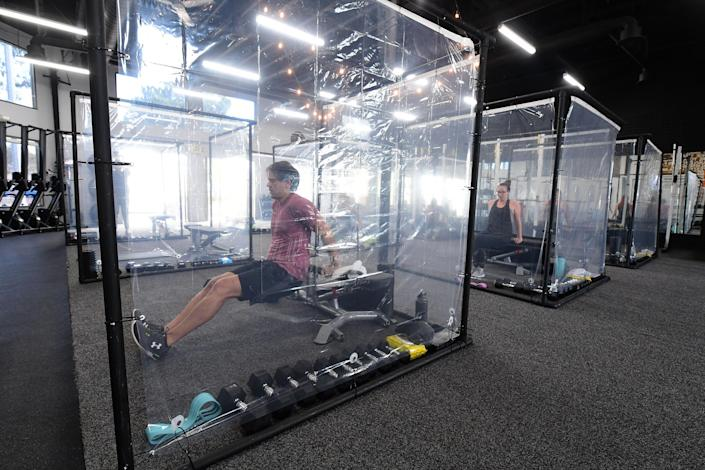 US-HEALTH-VIRUS-GYM-REOPENING (FREDERIC J. BROWN / AFP via Getty Images)