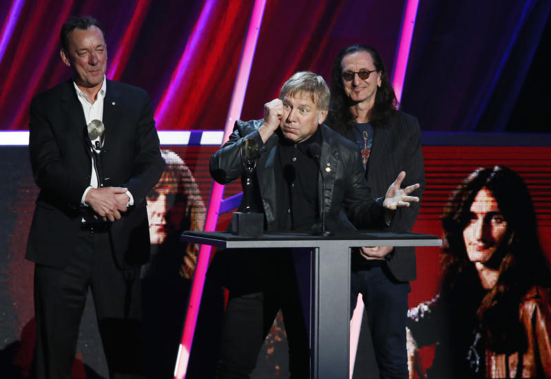 Rush jams into Rock and Roll Hall of Fame