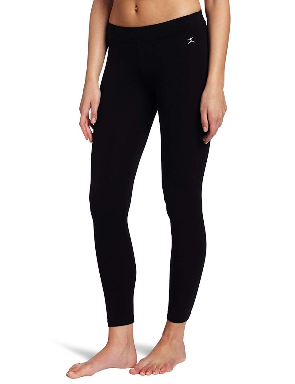 "<h3><a href=""https://www.amazon.com/Danskin-Womens-Essentials-Legging-Medium/dp/B015RFBHKY"" rel=""nofollow noopener"" target=""_blank"" data-ylk=""slk:Danskin Essentials Ankle Legging"" class=""link rapid-noclick-resp"">Danskin Essentials Ankle Legging</a> </h3><br><br>4.1 out of 5 stars and 1,599 reviews<br><br><strong>Promising Review:</strong> User Mistress Mae called these Danskin bottoms her ""<a href=""https://www.amazon.com/gp/customer-reviews/R14ZGH8I6USEXJ"" rel=""nofollow noopener"" target=""_blank"" data-ylk=""slk:gateway leggings"" class=""link rapid-noclick-resp"">gateway leggings</a>"" citing, ""[I] bought one pair in 2014, and another in 2015, and both are still in excellent shape. I've worn them during all sorts of exercise, including running, pilates, yoga, cardio, and weightlifting, and they never slide or show unmentionables. They are durable, comfortable, and opaque. They're also excellent as regular old non-exercise pants*. In fact, I'm wearing them right now...*Leggings are pants. And if someone disagrees with you on that point, just gotta look your hater straight in the eye, say IDGAF, and carry on living your life.""<br><br><strong>Danskin</strong> Essentials Ankle Legging, $, available at <a href=""https://www.amazon.com/Danskin-Womens-Essentials-Legging-Medium/dp/B015RFBHKY"" rel=""nofollow noopener"" target=""_blank"" data-ylk=""slk:Amazon"" class=""link rapid-noclick-resp"">Amazon</a>"