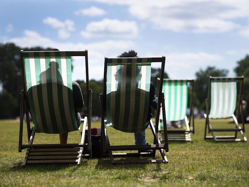 People enjoy the warm weather in Hyde Park, London, on 5 July, 2020: Victoria Jones/PA Wire/PA Images