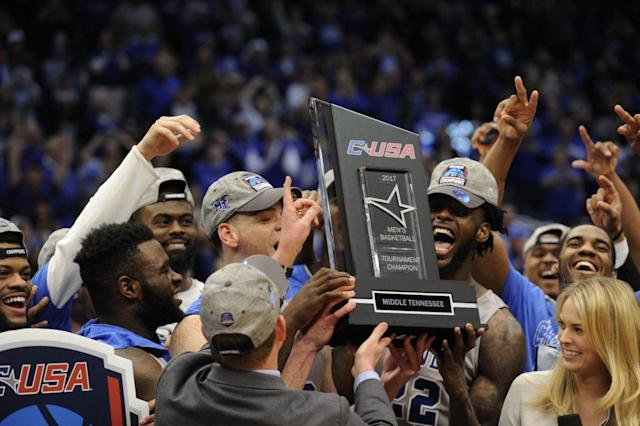 Middle Tennessee could topple a Big Ten team for a second straight year. (AP)