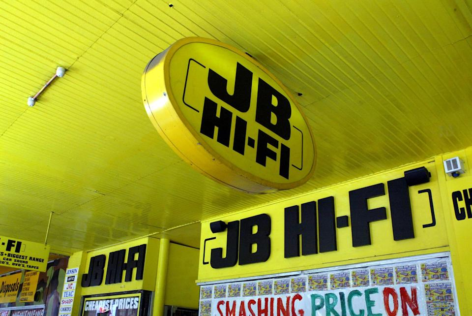 Exterior of a JB Hi-Fi store. Source: Getty Images