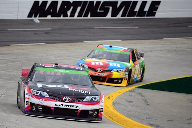 Kyle Busch and Denny Hamlin qualify 1-2 for Martinsville race