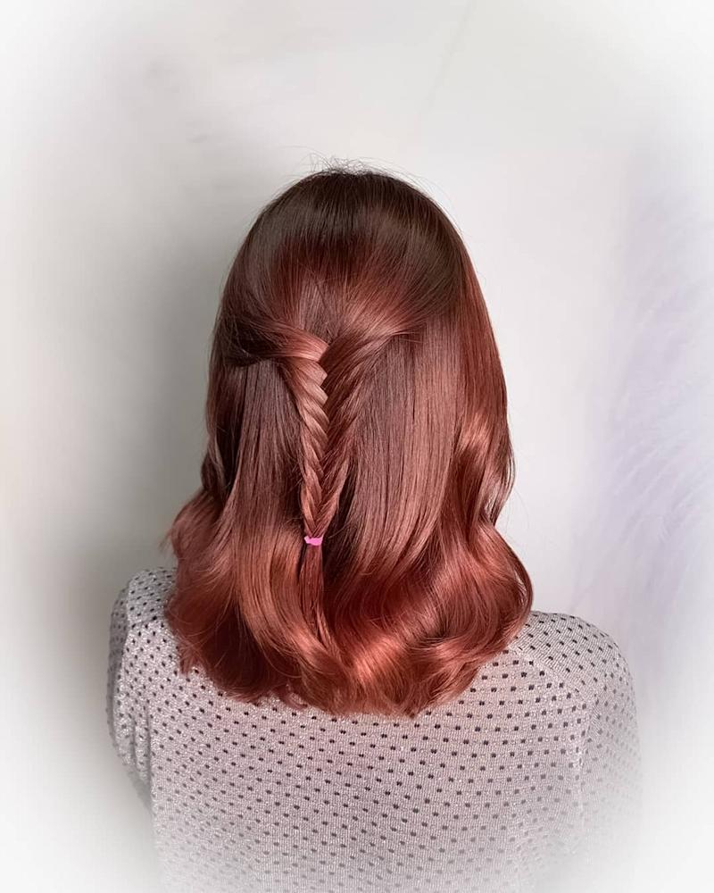 Red Hair Colour by Full House Salon @ Tampines