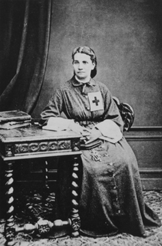 """<span class=""""caption"""">Coralie Cahen who treated thousands of wounded in 1870.</span> <span class=""""attribution""""><a class=""""link rapid-noclick-resp"""" href=""""https://avarchives.icrc.org/Picture/26961"""" rel=""""nofollow noopener"""" target=""""_blank"""" data-ylk=""""slk:International Committee of the Red Cross"""">International Committee of the Red Cross</a></span>"""