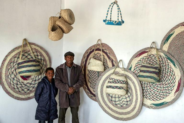 Basket weaving is a way for some residents of Tawergha to revive an ancient art -- and earn money