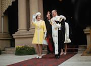 <p>During her and Prince Philip's 1970 royal tour of Australia, the Queen served up a yellow coat look for the ages.<br></p>