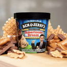 <p>Americone Dream, the Stephen Colbert-inspired flavor, includes fudge-covered waffle cones for crunch and caramel swirl for richness all in vanilla ice cream. Sales of this flavor support the Stephen Colbert Americone Dream Fund which benefits disadvantaged children, veteran families, and environmental causes. </p>
