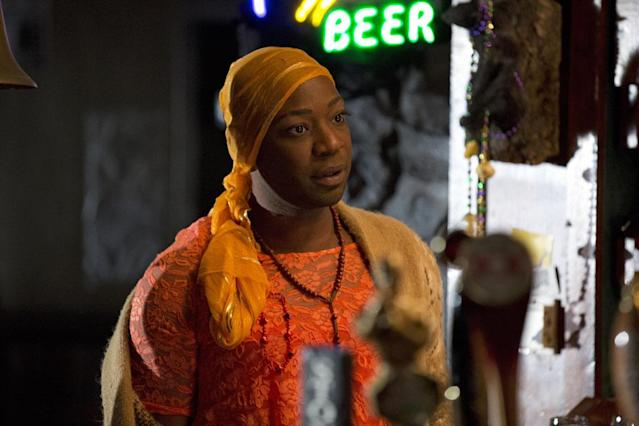 "Aren't you glad to see that Lafayette Reynolds (Nelsan Ellis) -- the cook who sees dead people -- is alive and well for Season 6? Possibly not for long, as the trailer shows him taking at least one serious punch to the face from a ""b---- [who] had a mean right."""