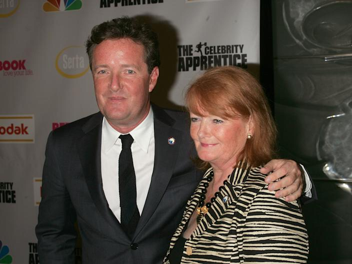 Piers Morgan and his Mom attends The Celebrity Apprentice Finale at Rock Center Cafe, Rockefeller Center on March 27, 2008 in New York City. (Photo by Jim Spellman/WireImage)